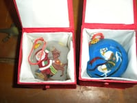 2 hand painted christmas ornaments  Milford