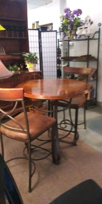 3-PC Set... Counter Height Table With 2 Chairs Lancaster, 75146