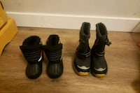 pair of black leather boots 3744 km