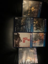 assorted ps4 game cases with cd Gaithersburg, 20879