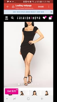 Women's black square-neckline tulip mini dress screenshot Calgary, T2W 2N5