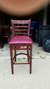 two brown wooden frame red padded chairs Princeton, 08540