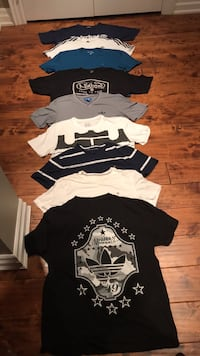 black and white crew-neck shirts Mississauga, L5G 2Z8