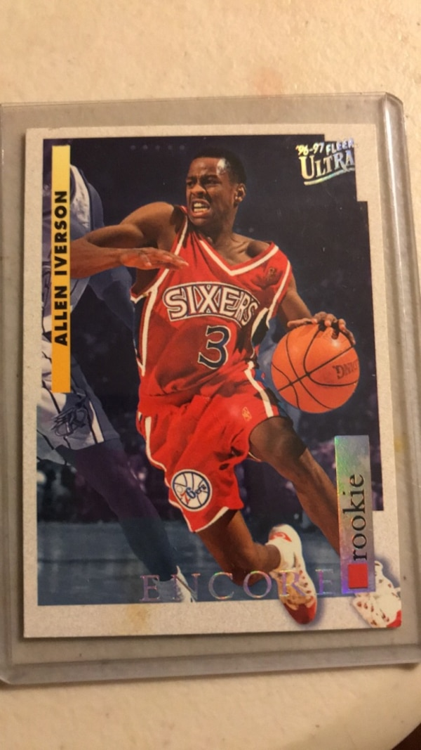 Used Allen Iverson Rookie Card for sale in Raleigh - letgo