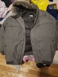 gray the north face gotham 3 winter jacket