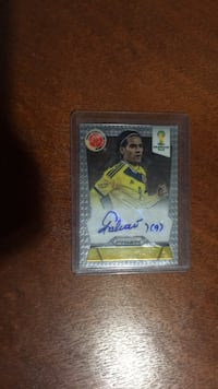 Official real signature soccer player PANINI World Cup card  Kitchener, N2R 1L6