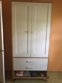 IKEA White wooden wardrobe 7 ft tall Burke