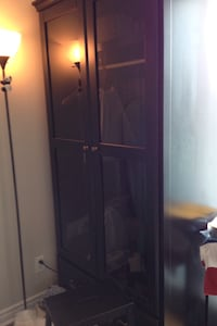 Black wooden wardrobe closet, excellent condition pick up only please Toronto, M5V 3T1