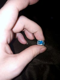 silver and blue gemstone ring St. John's, A1E 4H1