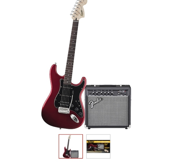 i'm selling my guitar it hasn't been used but it's out of the box i don't use it and have no use for it and it comes with a stand the amp guitar and cords