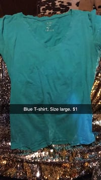 teal v-neck shirt Evansville, 47711