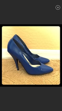 women's blue leather pointed pumps Prescott Valley, 86327
