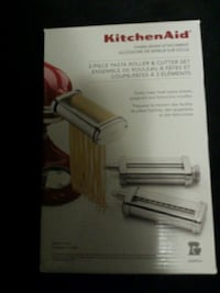 3 piece pasta roller and cutter set attachments brand new never opened