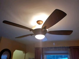 Remote control light fan