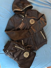 Versace Greco  Suede Tracksuit size S Silver Spring, 20904