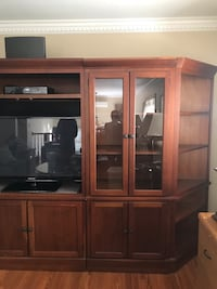 brown wooden cabinet with mirror Massapequa, 11758