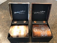 Set of 2 Brand New Salvatore Bellino Tie, Handkerchief, Cufflink Sets $3 for both Manassas, 20112