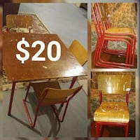 Vintage childs table and chair Oshawa