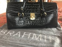 Brahmin Bag. Excellent condition. A classic style. 14inches by 7inches by 4.5 inches wide. Black Melbourne is the style Blaine, 55434