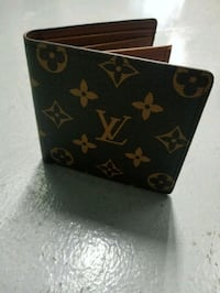 brown Louis Vuitton leather wallet Davie