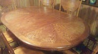 Solid Wood Table & Chairs (6) PAWTUCKET