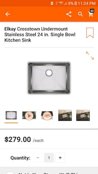 Kitchen sink bowl new Glendale, 91204