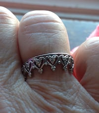 silver and diamond ring in box Braintree, 02184