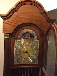 Ridgeway grandfather clock w moonphase dial obo