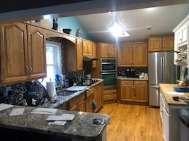 Kitchen for sale, cabinets, appliances.