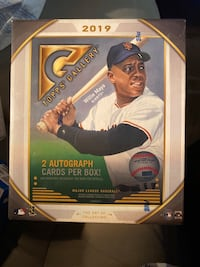 Topps Willie Mays Galley Box  2 Autographs per box 20 packs per box