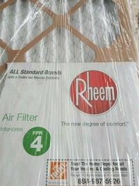 Heater air filters