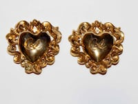 Authentic designer Christian Lacroix  runway clip on Earrings Calgary