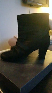pair of black suede boots TORONTO