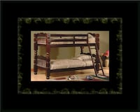 Twin wooden bunkbed frame Laurel