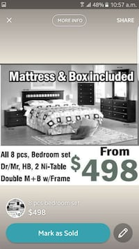 Mattress & Box Included bedroom set