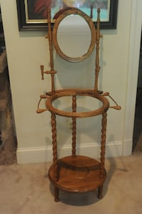 Antique Oak Bedroom Wash Stand CHEVYCHASE