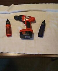 red and black cordless power drill 251 mi