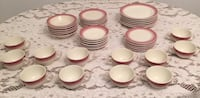 white-and-red ceramic dinnerware set Bethesda