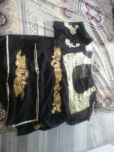 black and grey traditional dress