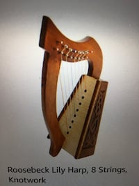 Roosebeck Lily Harp, 8 Stings. Brand new in box.