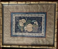 Antique Kimono Silk Embroidered Panel (Framed Beautifully)