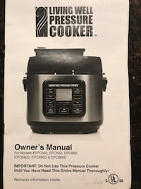 Pressure cooker living well not used