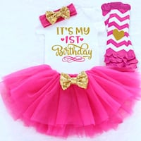 girl's pink and white tutu dress El Monte, 91731
