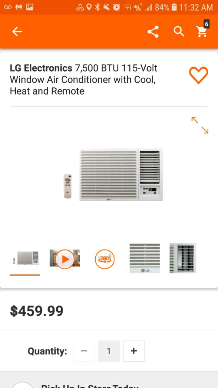 used air conditioner n heat lg 7500 btu room size 320sf for sale in rh gb letgo com
