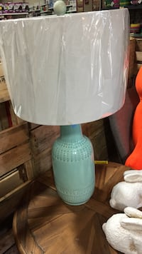 blue and white table lamp 260 mi
