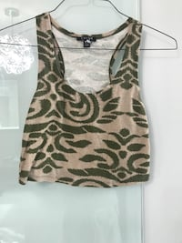 brown and black leopard print tank top
