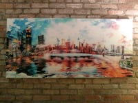 Dope painting of the downtown new york skyline New York, 10009
