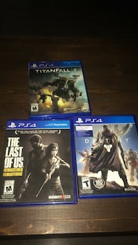 3 ps4 games destiny ,the last of us , titianfall 2 Guelph, N1E 6G7