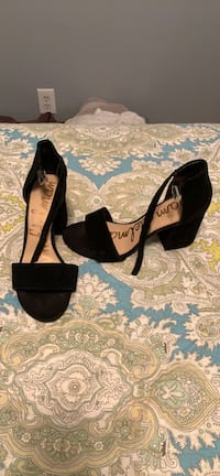 Black suede sam edelman heels size 8 Washington, 20016