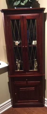 brown wooden framed glass display cabinet Vaughan, L6A 3S2